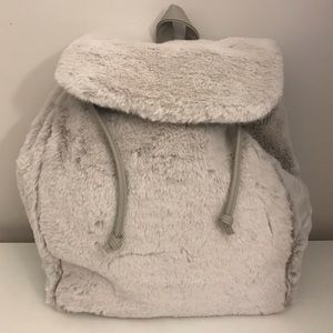 The Lemon Collection Faux Fur Backpack